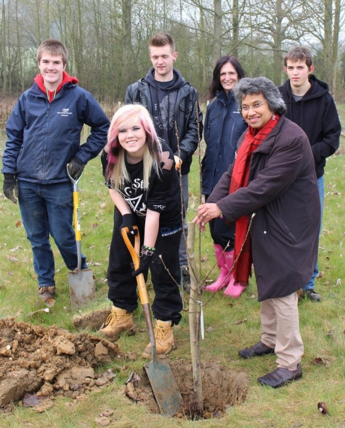 Community Garden Tree Planting 2014